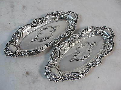 Pair Of Sterling Silver Dishes Birmingham 1902 Hmss