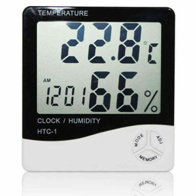 Digital Thermometer Hygrometer Electronic Temperature Humidity Meter Clock 6338