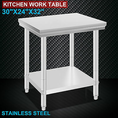 "24""x30"" Stainless Steel Kitchen Work Prep Table Food Restaurant Commercial"
