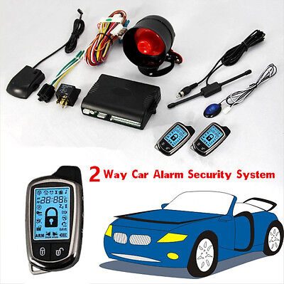 Car Alarm Security System 2 Pcs LCD Super Long Distance Controlers Anti-theft