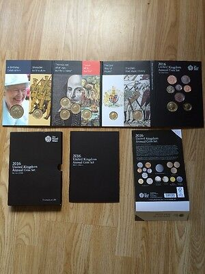 2016 United Kingdom Annual Coin Set 16 Coins