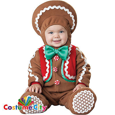 Baby Infant Toddlers Sweet Gingerbread Fancy Dress Christmas Party Costume