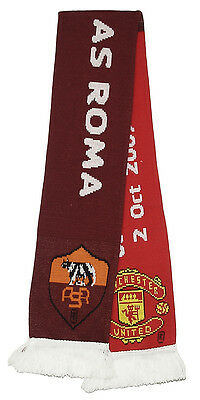 MANCHESTER UNITED v  AS ROMA CHAMPIONS LEAGUE OFFICIAL SCARF