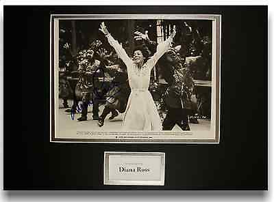 Diana Ross Authentic Hand Signed Autograph 8x10 Vintage Photograph