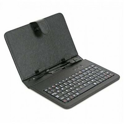 "Custodia Con Tastiera Qwerty Per Tablet 7"" 7 Pollici Usb Universale Cover Black"