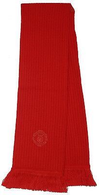 Manchester United Official Red Executive Scarf With Club Crest