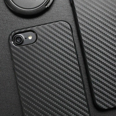 Luxury Carbon Fiber Soft Silicone TPU Case Cover For Apple iPhone 5 6 6s 7 Plus