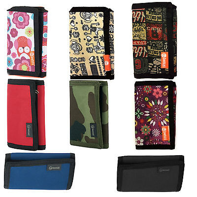 BENZI Boys Girls Unisex Trifold Polyester Wallet - Various Colours - Designs