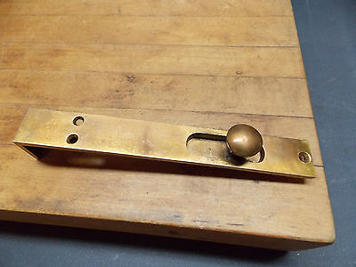 "Antique french type door 8"" slide bolt cast brass latch flush mount"