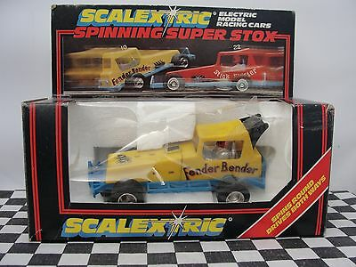 Scalextric Fenderbender Yellow C286  70's 1.32  Used Boxed