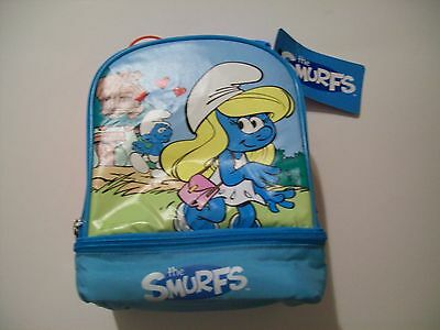 The Smurfs Smurfette Insulated Dual Compartment Lunch Bag Lunchbox NEW
