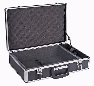 REED MC-2 Attache-Style Carrying Case. Made of Black Plastic and Aluminum