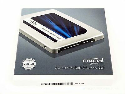 """Sealed and New Crucial MX300 2.5"""" 750GB SATA III Solid State Drive"""