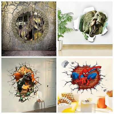 Removable 3D Large View Wall Sticker Kids Home Room Mural Wallpaper Decor Decals