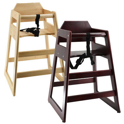 deAO Stackable Wooden Baby Feeding High Chair Highchair Seat Home Restaurants