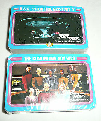 Lot of 2 SEALED Star Trek The Next Generation Decks of Playing Cards TNG 1701-D