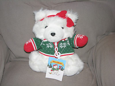 Dayton Hudson Marshall Fields Macys Santa Bear Santabear 1992 Miss Music Sweater