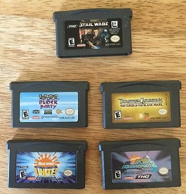 Lot Of 5 Gameboy Advance GBA Games Star Wars Pirates Of The Caribbean & 3 More