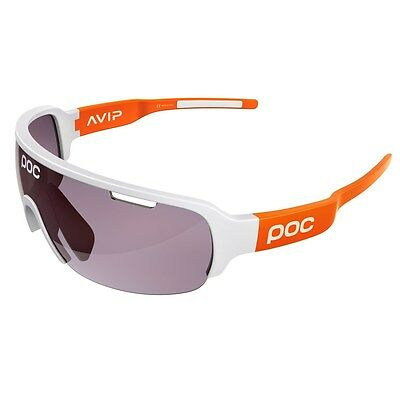 POC DO Half Blade AVIP Sunglasses // Hydrogen White/Zink Orange
