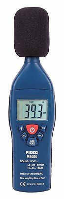 REED R8050 Sound Level Meter, Type 2, 30 to 130 dB with Backlit LCD Display