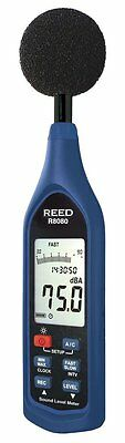 REED R8080 Sound Level Meter & Datalogger with Bargraph, 30 to 130 dB with LCD