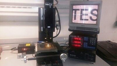 Micro-Vu Model M301 Video Measuring System W/ Q16 DRO Measuring System MFD 01/99