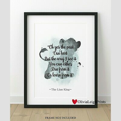 Disney The Lion King word Art Quote watercolour Art Print-Wall Art-Gift-Nursery