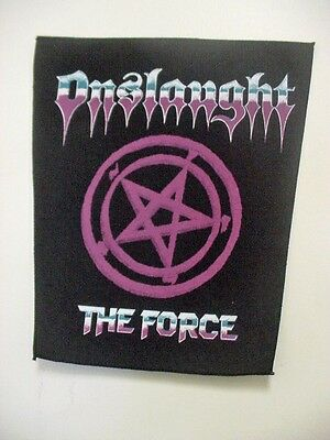 "set of 2  "" ONSLAUGHT ""  VINTAGE BACK PATCH  . "" THE FORCE "" 1980's"