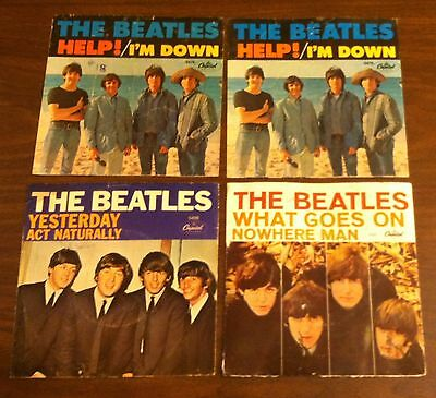 Beatles 45 Picture Sleeve Lot Nowhere Man Help I'm Down Yesterday Act Naturally