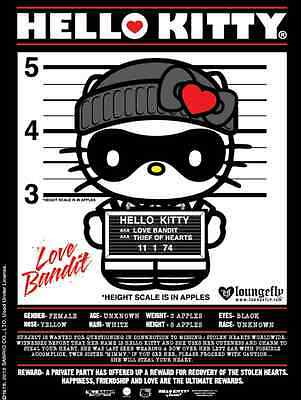 Sanrio Loungefly Hello Kitty Love Bandit Cat Burgler Thief Poster Banner Sign