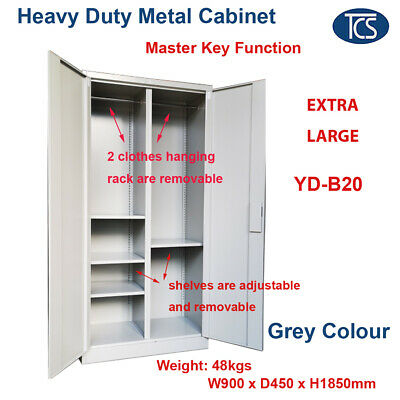 TCS NEW Metal Steel Locker Hanging Compartment Cabinet FILE CUPBOARD EXTRA LARGE