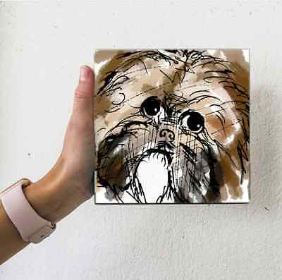 Shih Tzu Dog Water Color Look Puppy Digital Small Artwork Illustration Fun Art