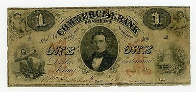 1800's $1 The Commercial Bank - Selma, ALABAMA Note