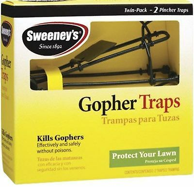 Gopher Traps 4 Traps (2 Boxes) Pincher Rats Mouse Safe & Effective Sweeney's