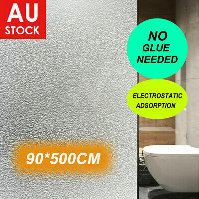 90cm*5m Sand Blast Clear Privacy Self-adhesive Windows Glass Film Removable