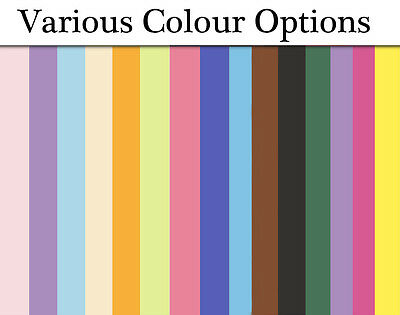 100 Card Sheets A4 for Crafts - Choice of Colours
