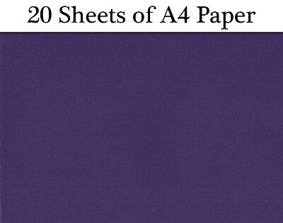 SALE - 20 Sheets of Coloured A4 Paper for Craft - Purple