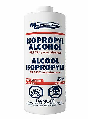 MG Chemicals 824 99.9% Isopropyl Alcohol Liquid Cleaner, 945ML, Clear (824-1L)