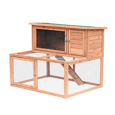 Pawhut Large Rabbit Hutch Coop Cage Backyard Outdoor Animal Pets Garden