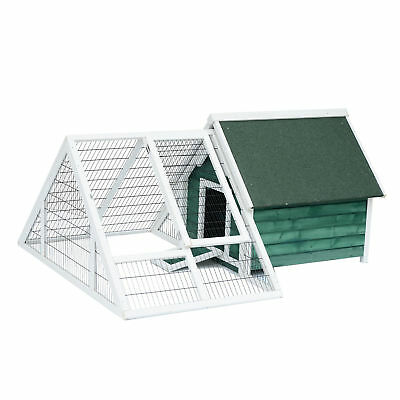 Pawhut Chicken Poultry Cage Coop Deluxe Large Nesting Box Run Outdoor