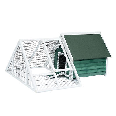 Pawhut Deluxe Large Wooden Chicken Coop Poultry Cage W/ Nesting Box Run Outdoor