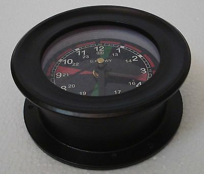 U.S. Navy Marine RADIO ROOM wall Clock - LIttle & Very Nice - Black Dial