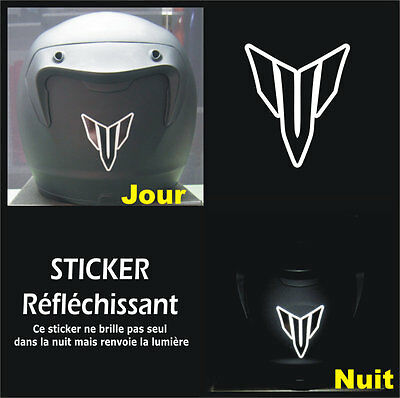Sticker RETRO-REFLECHISSANTS MT - MT-01 MT-03 MT-07 MT-09 - 6,5cm x 5,5cm