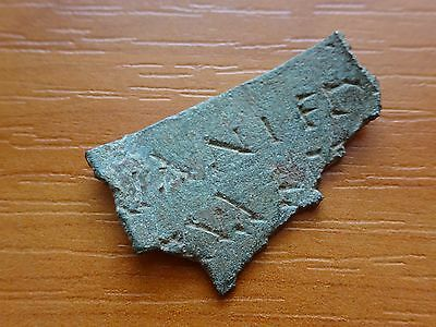Ancient Roman Military Bronze Diploma with inscription FRAGMENT