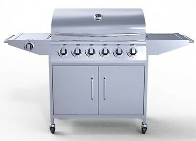 BBQ Gas Burner Outdoor Grill Garden Parties Cooker Stainless Steel Barbecue