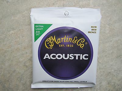 Martin Extra Light Acoustic Bronze Guitar Strings Set M170  *NEW*