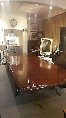 A Victorian  Mahogany Dining Table (Large) Circa 1860