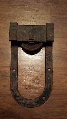 Antique Horseshoe Barn Door roller collectible farm fresh decor man cave Rustic