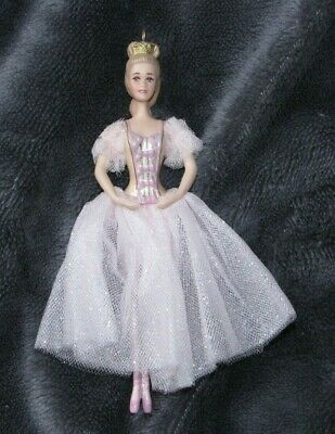BARBIE as the SUGAR PLUM FAIRY IN THE NUTCRACKER BALLET PORCELAIN ORNAMENT