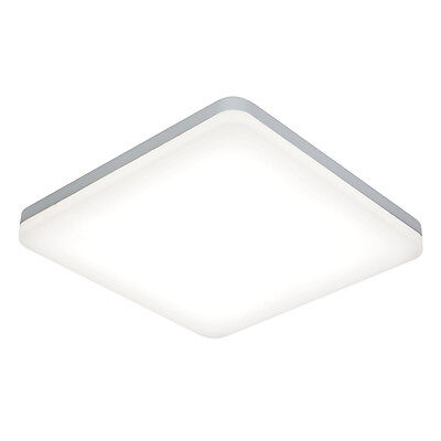 Saxby 54487 - Noble - 22W Square White Decorative LED Bathroom Ceiling Light